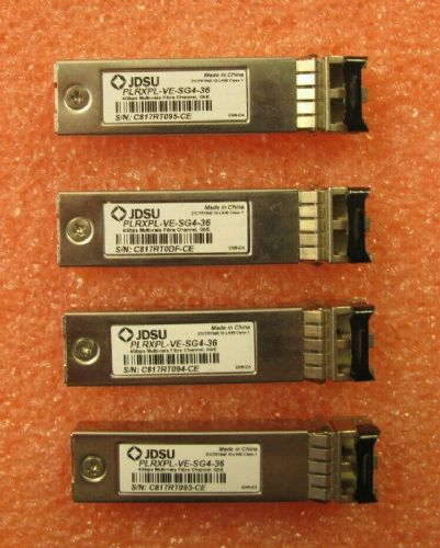 4 x JDSU 4GB Multi-Rate FC 850nm SFP Transceiver Module PLRXPL-VE-SG4-36